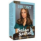 BBLUNT Salon Secret High Shine Creme Hair Colour, Light Golden Brown 5.32, 100g with Shine Tonic, 8ml