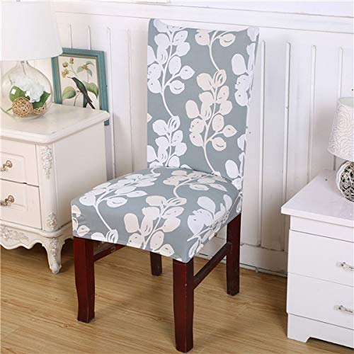 SSLBOO 2 stücke Moderne Blumenmuster Spandex Elastische Stuhlhussen Esszimmer Sitz Schutzhülle Schutzhülle Fall Abnehmbare Stretch Stuhl Cover-12, universal