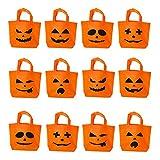 Maplelon Halloween - süßes oder saures süßigkeiten Tragen Taschen | kürbis mit Jack o Laterne Kinder Das Handy - Tasche Griff, kostüm, süßigkeiten, Dekorationen, partygeschenke - 12 Pcs