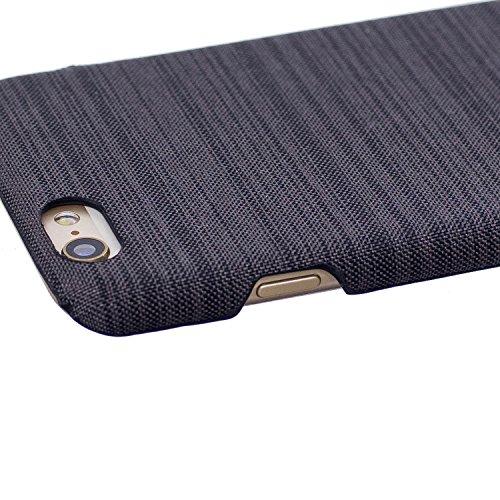 Apple iPhone 7/iPhone 8 hülle, Voguecase Hybrid Hülle Koffer Schutzhülle Handyhülle Schutz vor Stürzen und Stößen Schutzhülle für iPhone 7/iPhone 8 Case Cover (Leinen Stab Leder-Dunkelblau) + Gratis U Leinen Stab Leder-Braun