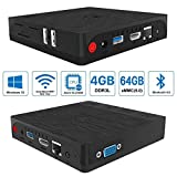 SeeKool BT3 PRO Mini PC Windows 10 4GB RAM, 64GB SSD mit 128GB Erweiterung, Intel Atom x5-Z8350 Quadcore, 2.4/5.8G WiFi, 1000Mbps Gigabit-LAN,Bluetooth 4.0, USB 3.0 und HDMI & VGA-Videoausgang