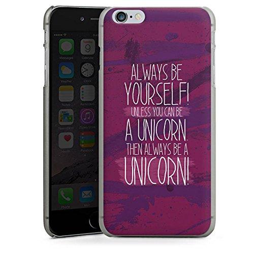 Apple iPhone X Silikon Hülle Case Schutzhülle Einhorn Unicorn Lustig Hard Case anthrazit-klar