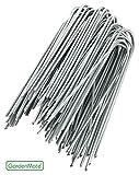 GardenMate® 100 Erdanker VERZINKT 150mm lang, 25mm breit aus Stahldraht Stärke 2,3mm