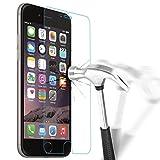 Verre Tremp� iPhone 6 6S, NEWC� Film Protection en Verre tremp� �cran Protecteur - ANTI RAYURES - SANS BULLES D'AIR -Ultra R�sistant Duret� 9H Glass Screen Protector pour iPhone 6 6S