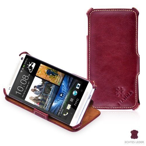 manna-real-leather-ultra-slim-flip-case-for-htc-one-m7-wine-red