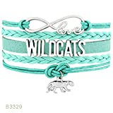 YIYIYYA Bracelets Unisex Chats Maman Border Collie Wildcats Golden Beagle Chiens Dogue Allemand Animaux Patte Infinity Love Charm Jewelry,04