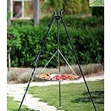 Barbecue con treppiedi, griglia in acciaio inox, diametro: 50 cm, peso 12 kg, altezza: da 185 cm