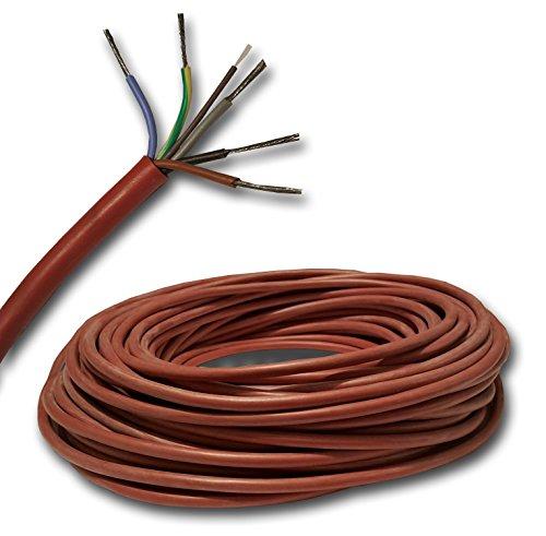 Silikonkabel z.B. für Ihre Sauna - SIHF 5x2,5 mm² Meterware auf Ihre Bedürfnisse geschnitten...