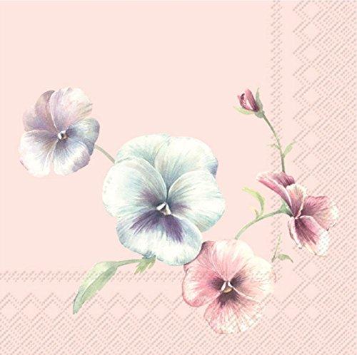 VIOLA in Vogue Light Rose Papierservietten Serviette 20Stück 3-lagig 25 x 25 cm (Tea Light Rose)