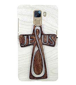 Vizagbeats jesus on cross Back Case Cover for Huawei Honor 7
