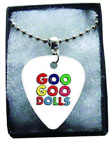 Goo Goo Dolls Colour Logo Metal Guitar Pick Necklace Ball Chain Collier Médiator