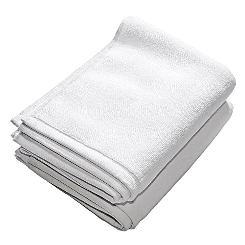 sur le sol Extra épais de luxe Hôtel et spa Tapis de bain coton, Blanc, Lot de 2, 50x 80cm