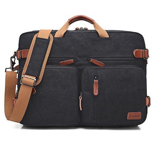 UtoteBag Umwandelbar 17,3 Zoll Laptop Tasche Segeltuch Messenger Bag Schultertaschen Aktentasche Multifunktional Notebooktasche Business Laptoptasche Umhängetasche