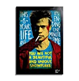 Arthole.it Tyler Durden (Brad Pitt) dal Film Fight Club - Quadro Pop-Art Originale con Cornice, Dipinto, Stampa su Tela, Poster, Locandina