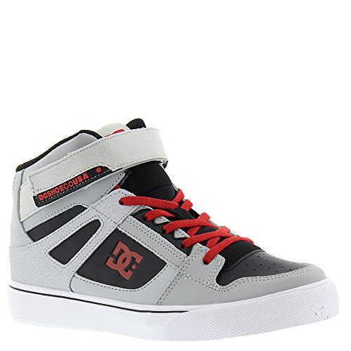 DC , Chaussures de skateboard pour garçon Gris/noir/rouge
