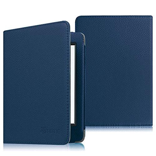 Fintie Etui Amazon Kindle 8ème Génération - Housse Folio Ultra Fin avec Auto Réveil / Veille pour Amazon Toute nouvelle Liseuse Kindle 6 pouces (8ème génération - modèle 2016), Magenta Bleu Encre