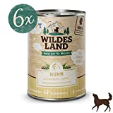 Wildes Land | Nassfutter für Hunde | Puppy Huhn | 6 x 400 g | mit Karotten, Äpfeln, Wildkräutern & Distelöl | Glutenfrei | Extra viel Fleisch Akzeptanz und Verträglichkeit