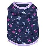 Aeici Haustierbekleidung Hundebekleidung Bedruckt Starry Baumwolljersey Kleiner Hundehaustierweste S