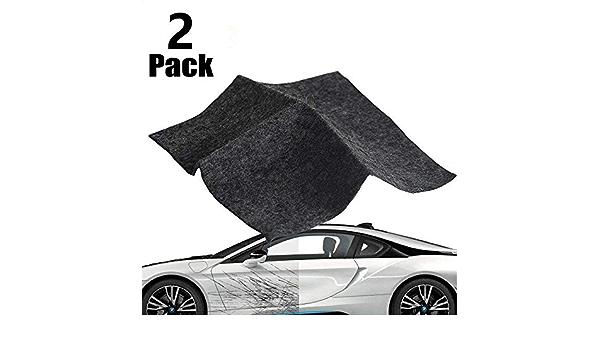 Kry Nano Magic Autokratzerentfernungstuch Schwarz Nanomagic Tuch Für Autokratzer Reparaturtuch Autolackkratzer Reparatur 2 Packungen Auto