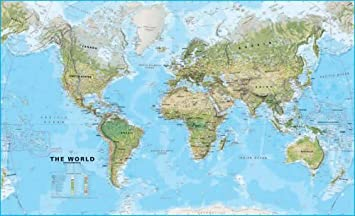 Large world wall map environmental without flags laminated and large world wall map environmental without flags laminated and board mounted amazon kitchen home gumiabroncs Images