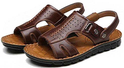 DADAWEN Chaussures de Marche Homme Sandales été Confort Marron