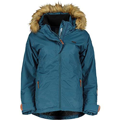 CNSRD Mädchen Ski und Snowboardjacke Jilian smaragd dots, Größe:128   04251385146470