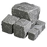 Hamann Mercatus GmbH Basalt Pflaster - in Türkei - 8/11 cm 800 kg Drahtgitter - Natursteinpflaster für Individuelle und Dekorative Garten & Weggestaltung