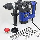 BITUXX® Bohrhammer Schlagbohrer 1800W Schlagbohrmaschine Abbruchhammer Meißelhammer SDS-Plus + 6 Joule 1800W 4100S/min 2x Meißel