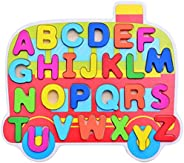 Wooden Alphabet puzzles with Chunky Letters,  For Early Educational Learning, Montessori Teaching for Kinderga