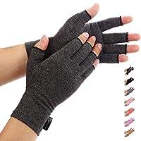 Duerer anti-artritis handschoenen (paar) - Compression handschoenen voor reumatoïden en osteoarthritis - handschoenen bieden arthritische gewrichtspijn verlichting van de symptomen Large zwart