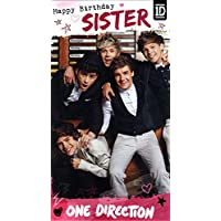 Amazon one direction toys games one direction happy birthday sister card bookmarktalkfo Gallery