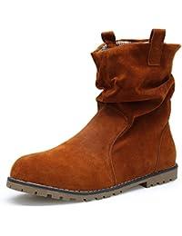 KOUDYEN Mujer Ante Zapatos Antideslizante Boots Botines Botas