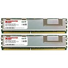 Komputerbay - Módulos de memoria FB-DIMM (240 PIN) con disipadores de calor, 4GB (2 x 2GB), DDR2, PC2-5300F, 667MHz, CL5, ECC, Fully Buffered, 2Rx4
