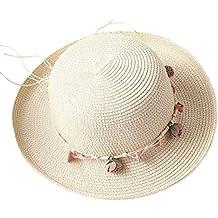 drawihi sombrero de paja sombrero de sol playa Cap gorra carcasa Flang para mujer corona en tres dimensiones de la moda elegante firme