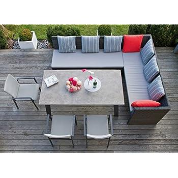 riesige garten sitzgruppe lounge mit esstisch. Black Bedroom Furniture Sets. Home Design Ideas