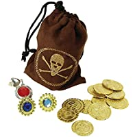 Bristol Novelty BA1089 Pirate Coins and Jewellery, One Size