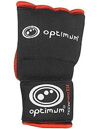Optimum Tech Pro X14 - Guantes de boxeo para entrenamiento, color negro / rojo, talla L