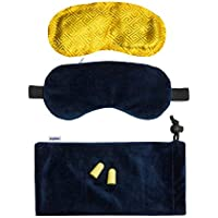 Premium Schlafmaske für Männer & Frauen inkl. Duftkissen (herausnehmbar), Ohrstöpsel & Tragetasche | blickdichtes... preisvergleich bei billige-tabletten.eu
