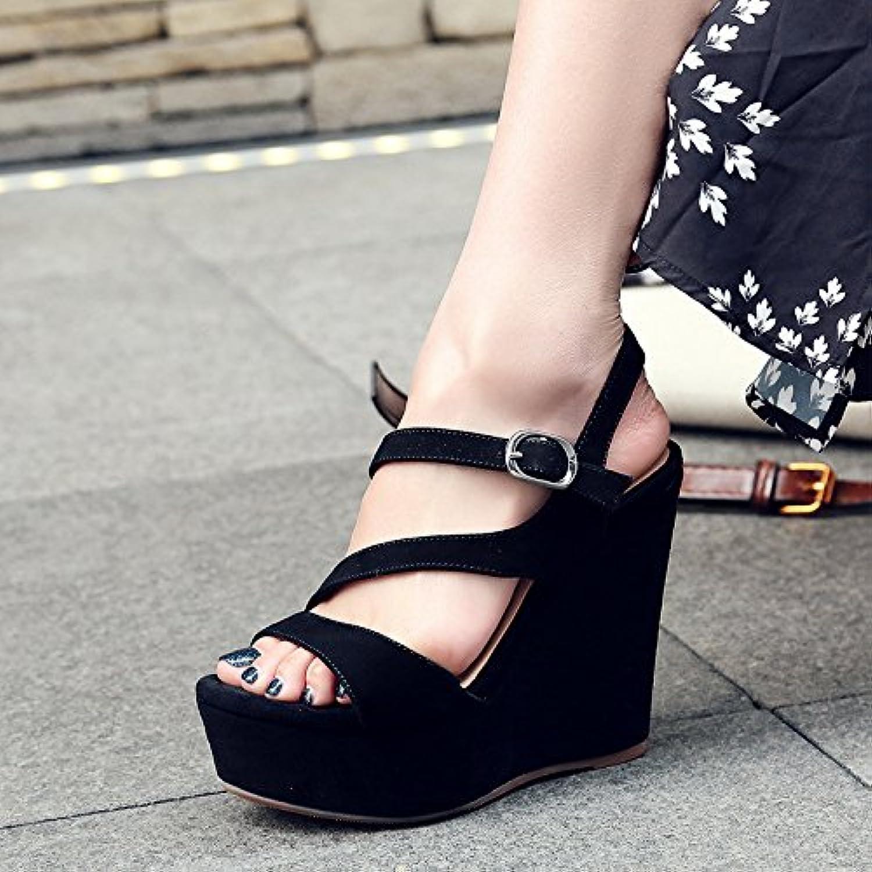 68b21d86bd90b9 ajunr new / / / mode / travaux / mesdames les chaussures sandales été 12cm  talons gâteau le fermoir rome b07dqxz232 parent | Distinctif c8690d