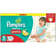 Pampers Baby-Dry Pants Gr.5, 12-18kg, 84 Windeln, 1 Packung=1 Impfdosis