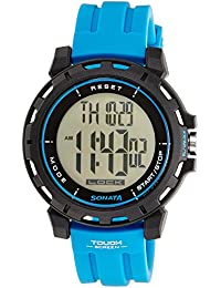 Sonata Ocean Series Digital Black Dial Men's Watch -NK77037PP02