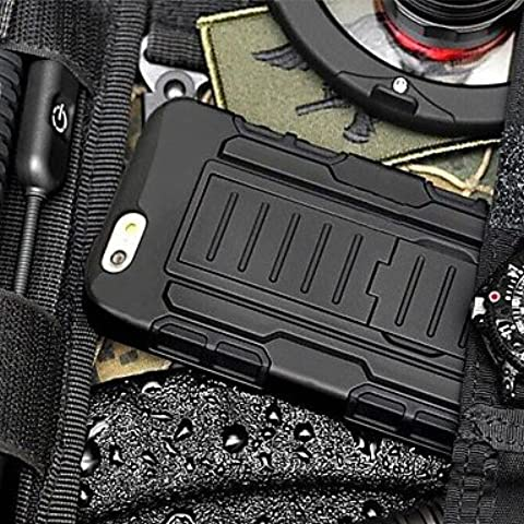 Multifunktions-Telefon-Tasche/Leder/Soft Shell/Schelle Widerstand an dem Herausfallen Armor Schutzhülle mit Ständer und Clip für iPhone 6Plus