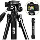 """'Esddi 70""""Aluminum Alloy Compact Lightweight Travel Tripod For Smartphone Camera DSLR SLR Canon Nikon Sony Olympus with Mobile Phone Holder Bag"""