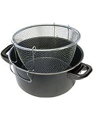 No label Cuisine Friteus4, 3L+corbeil en acier/carbon Black