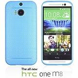 OnlineBestDigital - Colorful Hard Back Case for HTC One M8 - Bleu
