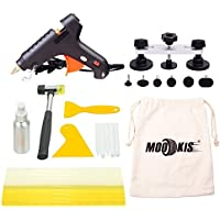 Mookis PDR Kit Herratamientas, 22pcs PDR Tools para Eliminar las Abolladuras de Automóvil, Lavadora, Moto