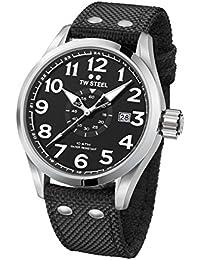 TW Steel Volante Armbanduhr XL VS2 48mm Textilband schwarz UVP 199EUR