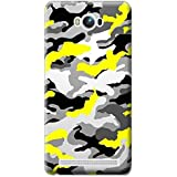 Bloody Branded Back Case For Asus Zenfone MAX | Asus Zenfone MAX Back Cover | Asus Zenfone MAX Back Case - Printed Designer Hard Plastic Case - Camouflage Theme(Yellow, Black & Gray)