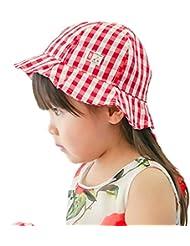 Smile YKK bebé niñas niños algodón Plaid rosa al aire libre pesca sombrero de sol