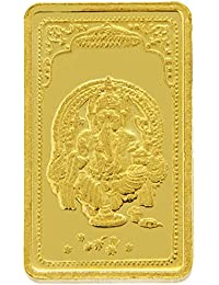 TBZ - The Original 20 gm, 24k(999) Yellow Gold Ganesh Precious Coin